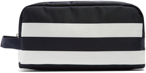 DOLCE & GABBANA Striped double-zip make-up bag