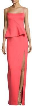 Black Halo Tia Sleeveless Scuba Column Gown, Canyon Coral