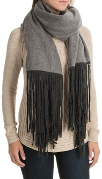 La Fiorentina Wool and Cashmere Blend Wrap with Fringe (For Women)