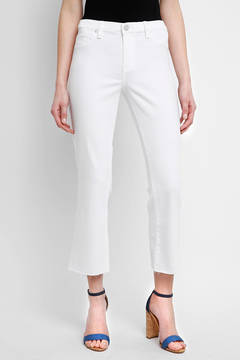 Blank White Crop Flare Jeans
