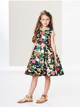 Oscar de la Renta Kids Kids | Flower Jungle Mikado Pleated Dress