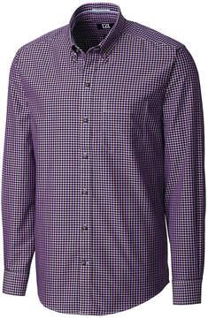 Cutter & Buck Purple Gingham Willard Button-Up - Men