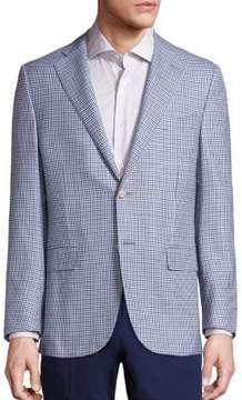 Corneliani Mini Checked Virgin Wool & Silk Sportcoat
