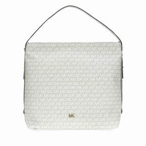 Michael Kors Griffin Large Logo Jacquard Shoulder Bag - Cream - NAT/LT CREAM - STYLE