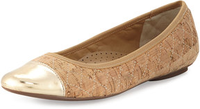 Neiman Marcus Saucy Quilted Cork Flat, Multi