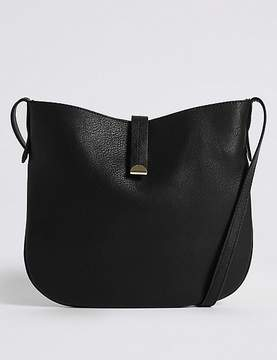Marks and Spencer Faux Leather Metal Tab Cross Body Bag