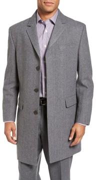 Hart Schaffner Marx Men's Maitland Modern Fit Wool Blend Overcoat