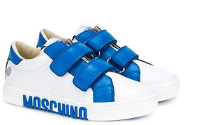 Moschino Kids touch strap sneakers