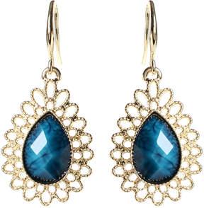 Amrita Singh Blue Lapis & Goldtone Surf Lodge Drop Earrings