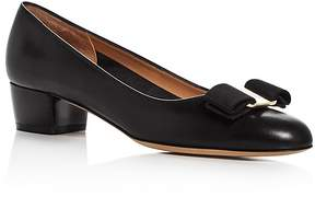 Salvatore Ferragamo Women's Vara Leather Low Heel Pumps
