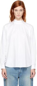 Chimala Off-White High Neck Pullshirt Blouse