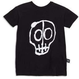 Nununu Toddler's, Little Boy's& Boy's Skull Mask Patch T-Shirt