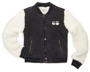 Tractr Girl's Cotton Baseball Jacket
