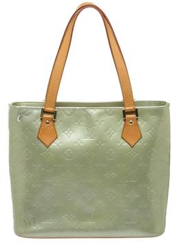 Louis Vuitton Tote w patent leather tote - GREEN - STYLE