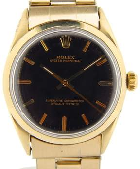 Rolex Oyster Perpetual No-Date 1024 14K Yellow Gold Plated 34mm Watch
