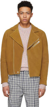 Acne Studios Tan Suede Axl Jacket