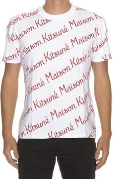 Kitsune All Over Logo T-shirt