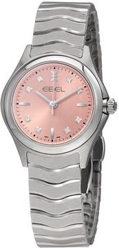 Ebel Wave Pink Galvanic Dial Diamond Ladies Watch
