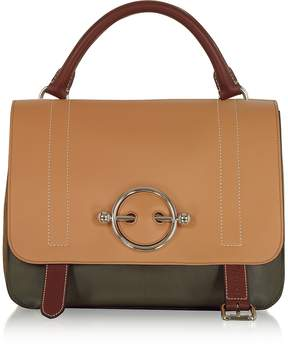 J.W.Anderson Chestnut Leather Disc Satchel Bag