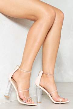 Nasty Gal nastygal Open Invitation Lucite Heel
