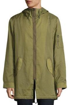 Ovadia & Sons Dalton Rips Hooded Overcoat