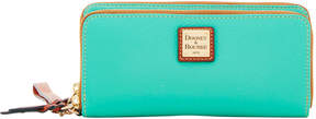 Dooney & Bourke Pebble Grain Double Zip Wallet