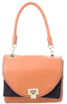Max Mara Leather & Suede Flap Bag