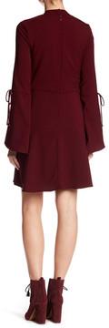 ECI Crepe Bell Sleeve Dress