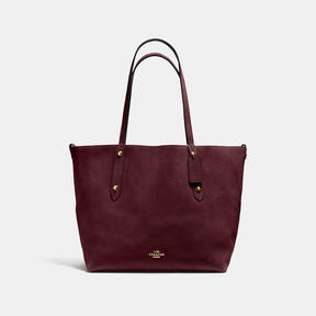 COACH Coach Reversible Large Market Tote - LIGHT GOLD/OXBLOOD - STYLE