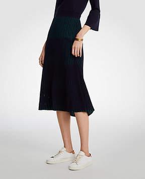 Ann Taylor Tall Ribbed Full Sweater Skirt