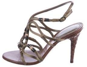 Bottega Veneta Satin Caged Sandals