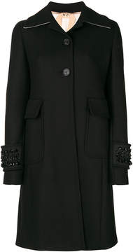 No.21 embroidered detail coat