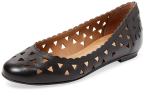 French Sole Women's Village Cut-Out Leather Ballet Flat