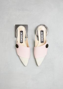 Jacquemus Ecru / Pink Les Sandales Boutons