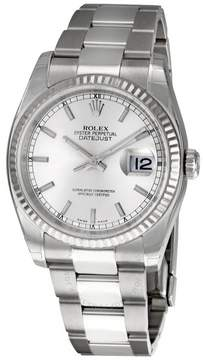 Rolex Oyster Perpetual 36 mm Silver Dial Stainless Steel Bracelet Automatic Men's Watch 116234SSO