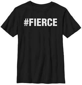 Fifth Sun Black '#FIERCE' Crewneck Tee - Youth