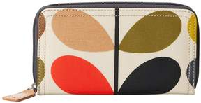 Orla Kiely Matt Laminated Classic Multi Stem Big Zip Wallet Wallet Handbags