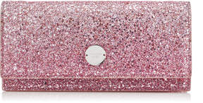 Jimmy Choo FIE Platinum and Flamingo Ice Glitter Degrade Fabric Clutch Bag