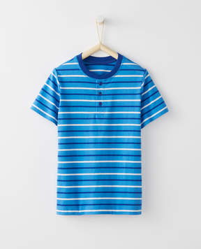 Hanna Andersson Striped Henley In 100% Cotton
