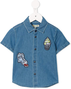 Kenzo patch embellished denim shirt