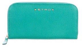 Etro Embossed Zip Wallet