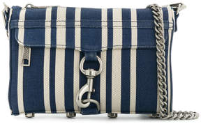 Rebecca Minkoff striped Mac crossbody bag - BLUE - STYLE