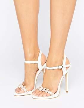 Public Desire Devin Flower Heeled Sandals