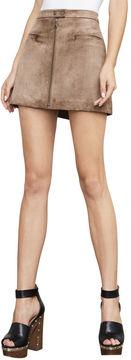 BCBGMAXAZRIA Kahli Faux-Suede Miniskirt