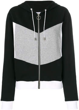 Courreges block colour hoodie