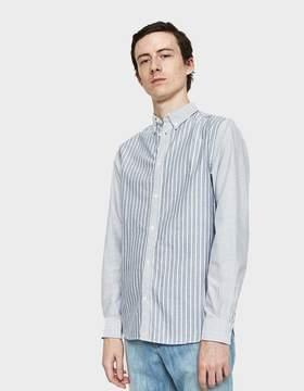 Norse Projects Anton Oxford Shirt in Dark Navy Multi Stripe