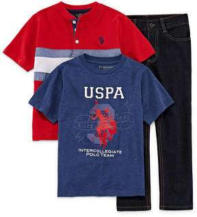 U.S. Polo Assn. 3-pc. ss henley set