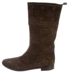 Sartore Studded Mid-Calf Boots