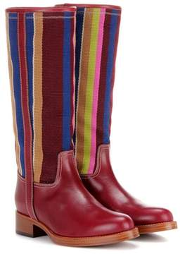Etro Fabric and leather boots