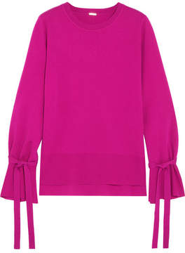 ADAM by Adam Lippes Tie-detailed Wool Sweater - Fuchsia